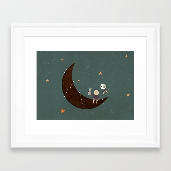 You, Me, the Moon and the Stars Framed Art Print