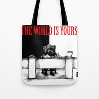 The World Is Yours Sketc… Tote Bag