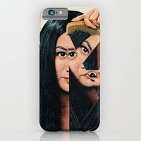 woman iPhone & iPod Cases featuring Normalization by Eugenia Loli