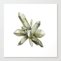 Green Crystal Canvas Print