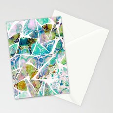Marbled Earth Blue Stationery Cards