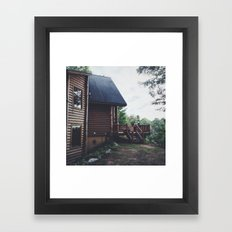 Log Cabin Framed Art Print