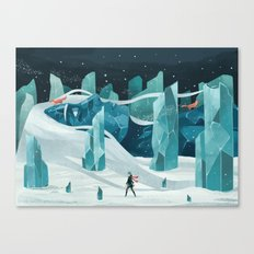 The Wanderer And The Ice… Canvas Print