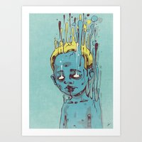 The Blue Boy With Golden… Art Print