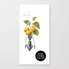 Oh yeah it's a squid-peach-tree. Canvas Print