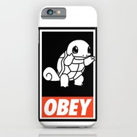 iPhone & iPod Case featuring OBEY Squirtle by Royal Bros Art