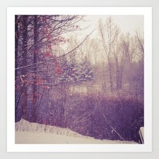 Detroit Winter Art Print