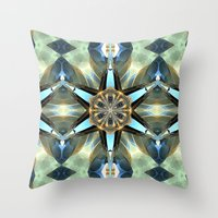 Abstract Earth Tones Emb… Throw Pillow