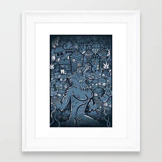 WOLVES OF PERIGORD Framed Art Print