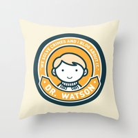 Cute John Watson - Orange Throw Pillow