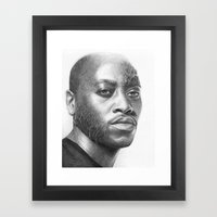 Dr. Foreman-House MD-Omar Epps-Portrait Framed Art Print