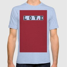 love text Mens Fitted Tee Athletic Blue SMALL