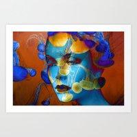 Faces 21 Art Print
