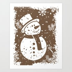 Friendly Snowman Art Print