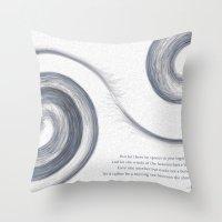 Moving Sea Throw Pillow