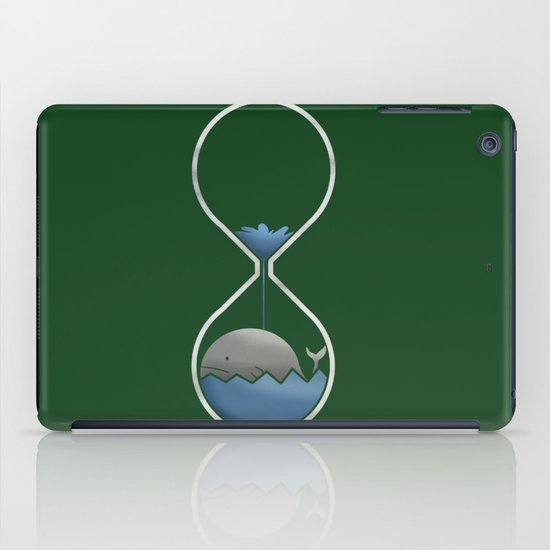whale hourglass iPad Case