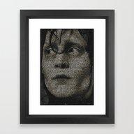 Framed Art Print featuring Edward Scissorhands Scre… by Robotic Ewe