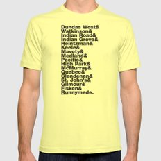 Junction& Mens Fitted Tee Lemon SMALL