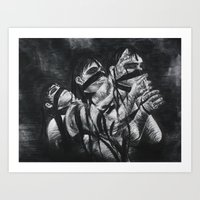 Tied to Burdens Art Print