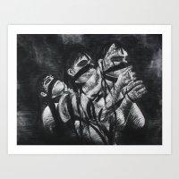 Tied To Burdens Art Print