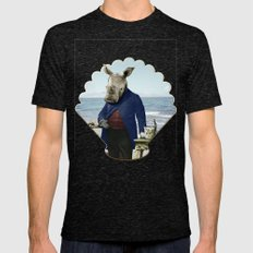Mr. Rhino's Day At The B… Mens Fitted Tee Tri-Black SMALL