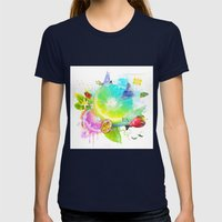 Acid Lima Womens Fitted Tee Navy SMALL