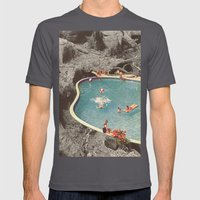 is this the place that they call paradise? Mens Fitted Tee Asphalt SMALL