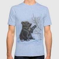 Bear Cub Mens Fitted Tee Athletic Blue SMALL