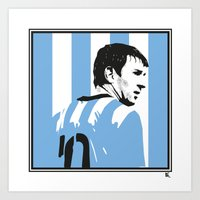 Messi Argentina Art Print