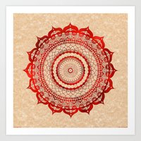 Omulyána Red Gallery Ma… Art Print