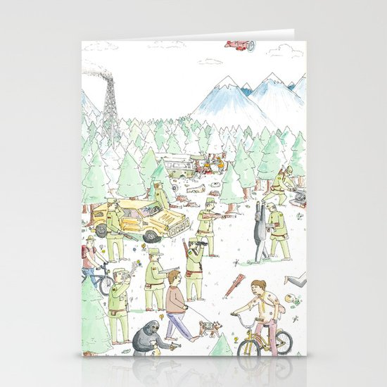 The Woods Stationery Card