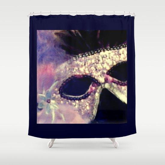 Mardi Gras Mask Shower Curtain