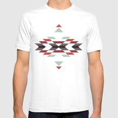 NAVAJO PRINT SMALL White Mens Fitted Tee
