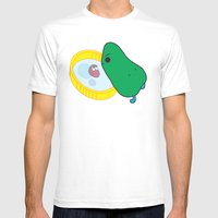 Beans Mens Fitted Tee White SMALL