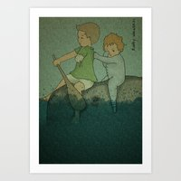 Who Cares? Art Print