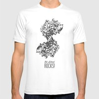 Old School Rocks (Classi… Mens Fitted Tee White SMALL