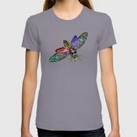 Goth Moth Womens Fitted Tee Slate SMALL