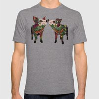 pig love amber Mens Fitted Tee Tri-Grey SMALL