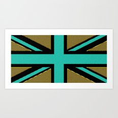 Glittery Union Jack Art Print