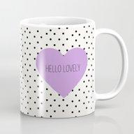 Hello Lovely Purple Hear… Mug