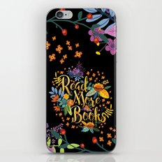 Read More Books - Black Floral Gold iPhone & iPod Skin