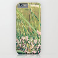 iPhone & iPod Case featuring flowers at the beach by Theresia Pauls