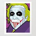 Pop Icon - Albert Joke Art Print