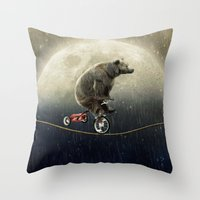 Balancing Act (under The… Throw Pillow
