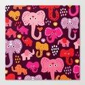 Elephant india parade Canvas Print