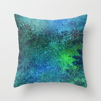 underwater fantasy Throw Pillow