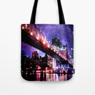 Tote Bag featuring New York New York by WhimsyRomance&Fun