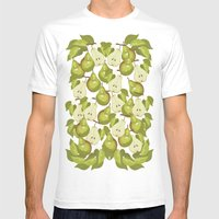 Pears Pattern Mens Fitted Tee White SMALL