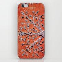 Gothic Red Door iPhone & iPod Skin