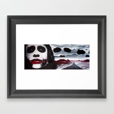 THE JOKER'S HIGHWAY Framed Art Print